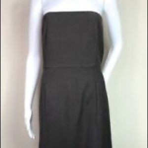 Theory brown strapless dress